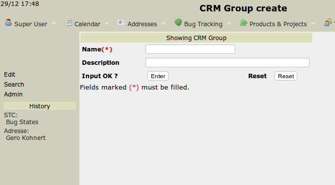 Create a CRM Group